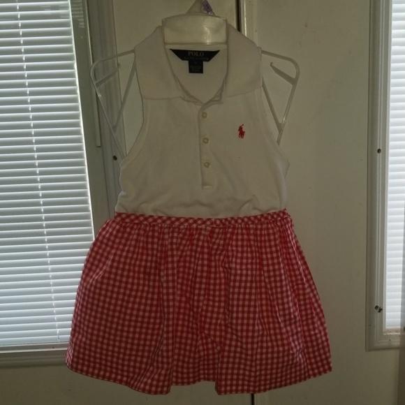 Ralph Lauren shirt w/ Ralph Lauren Gingham Skirt